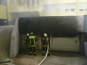 Brand in Tiefgarage